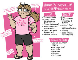 "A ""meet the artist"" meme featuring me. Too much text to effectively caption, but it's all pretty inconsequential information anyway."