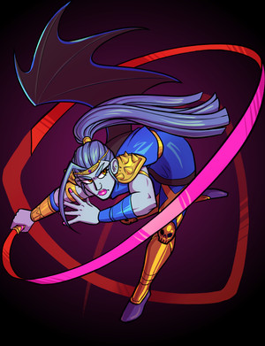 Art of Megaera, one of the Fury Sisters, from Hades by Supergiant Games.